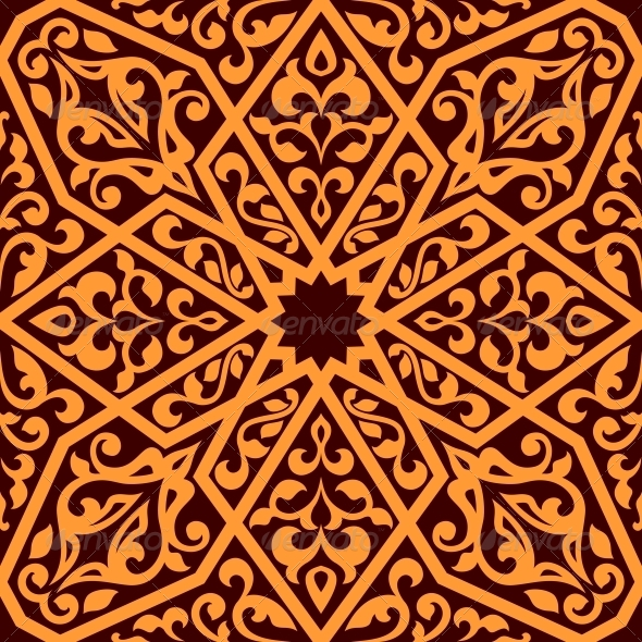 Arabian Seamless Tile Pattern - Backgrounds Decorative