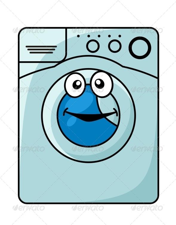 Washing Machine Cartoon - Man-made Objects Objects