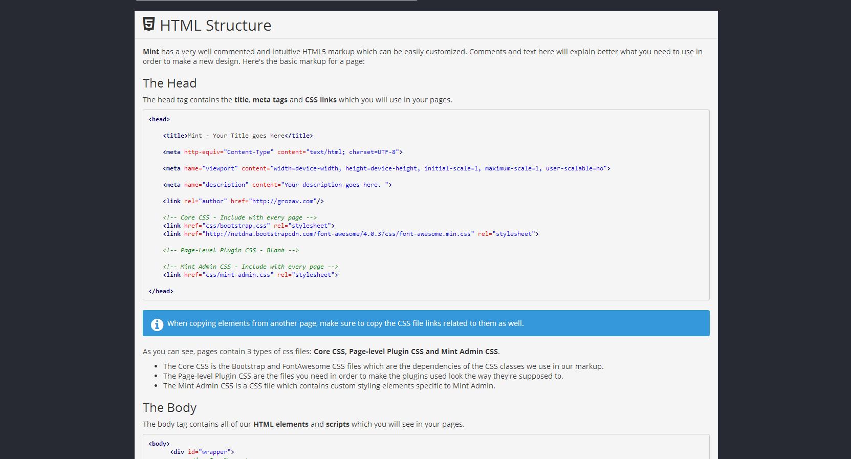 Mint - Flat & Responsive Admin Dashboard Template by Grozav ...