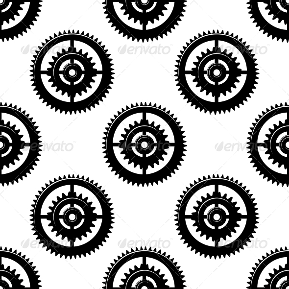 Gears and Pinions Seamless Pattern - Patterns Decorative