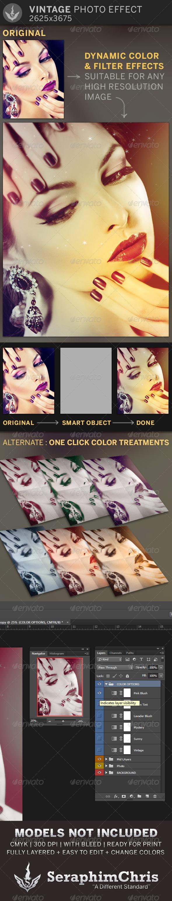 Vintage Photo Effect Template - Photo Templates Graphics