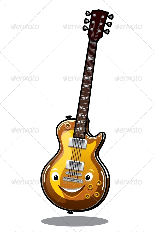 Cartoon Electric Guitar - Miscellaneous Characters