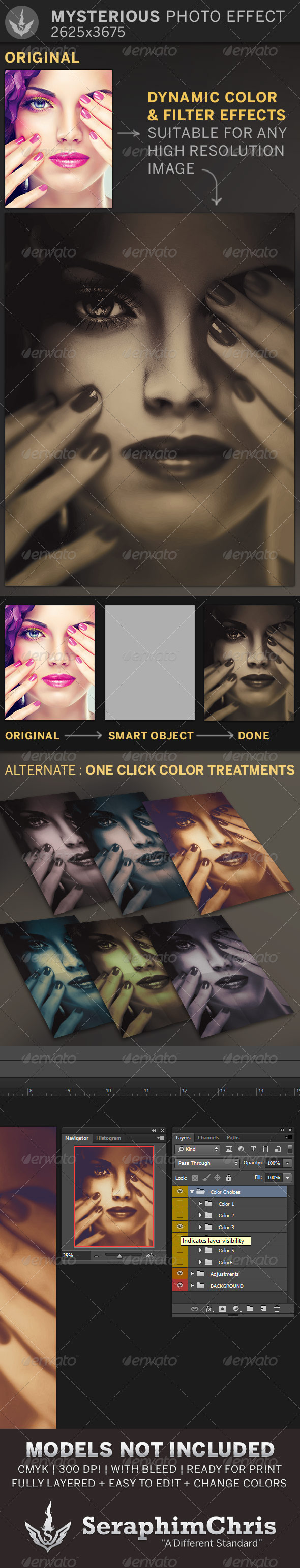 Mysterious Photo Effect Template - Photo Templates Graphics