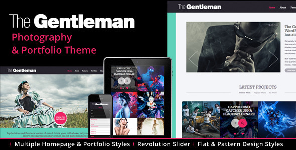 The Gentleman – Photography & Portfolio Theme