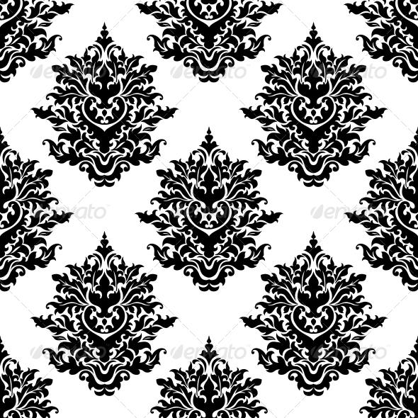 Ornate Seamless Pattern with Foliate Motifs - Patterns Decorative
