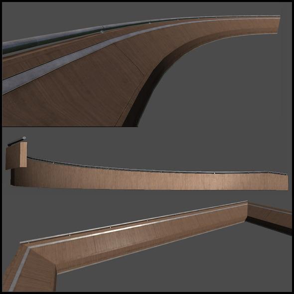 Wooden Railing Set - 3DOcean Item for Sale