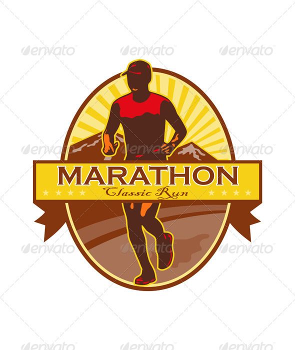 Marathon Classic Run Retro - Sports/Activity Conceptual