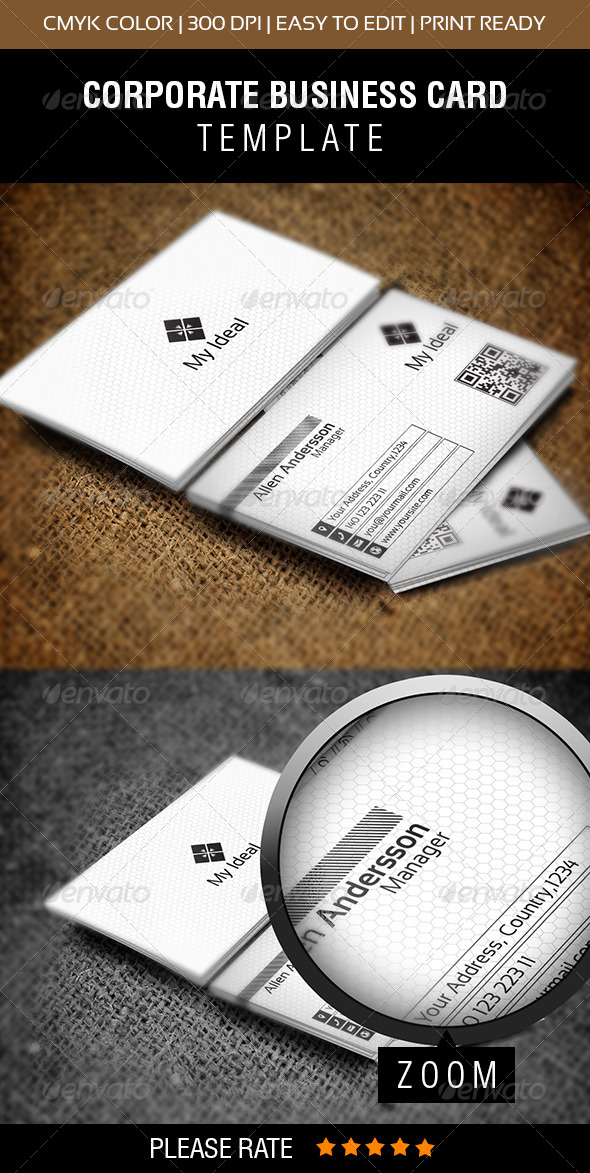 My Ideal Business Card - Corporate Business Cards