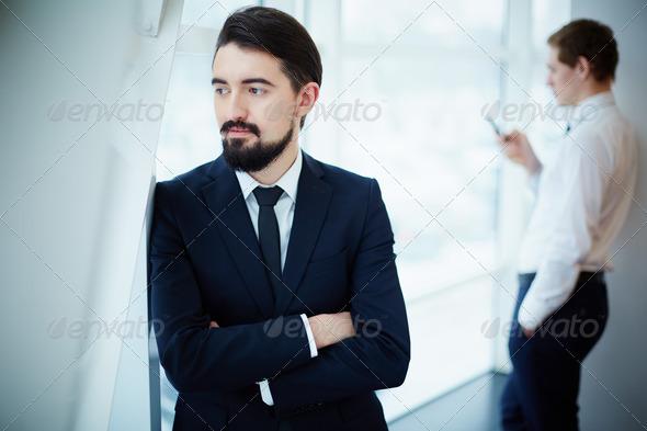 Calm businessman - Stock Photo - Images