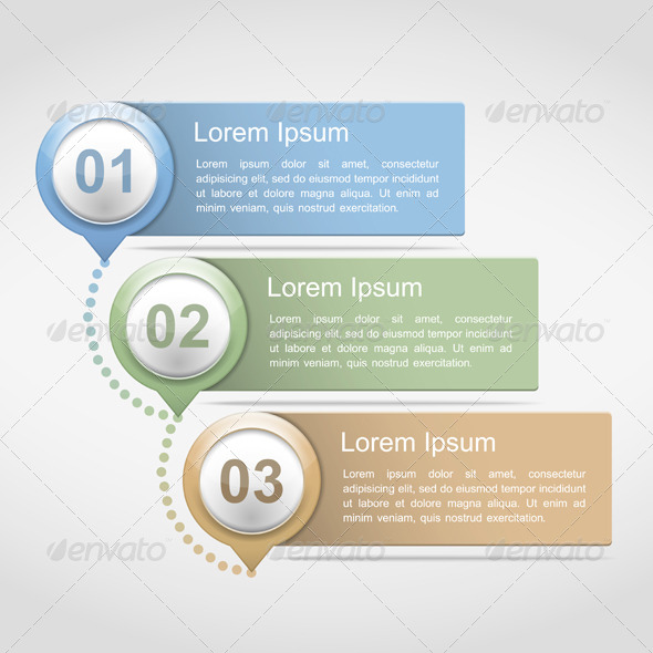 Design Template with Three Elements - Miscellaneous Vectors