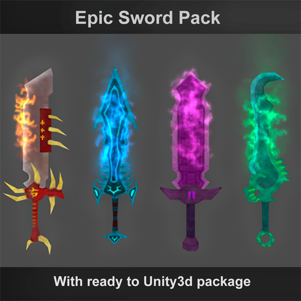 Epic Swords - 3DOcean Item for Sale