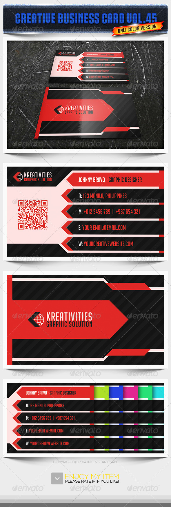 IntenseArtisan Business Card Vol.45 - Creative Business Cards