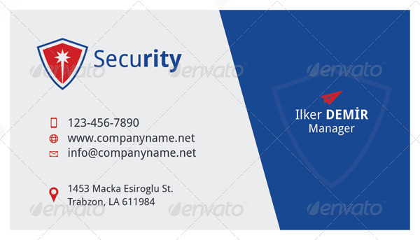 security card template