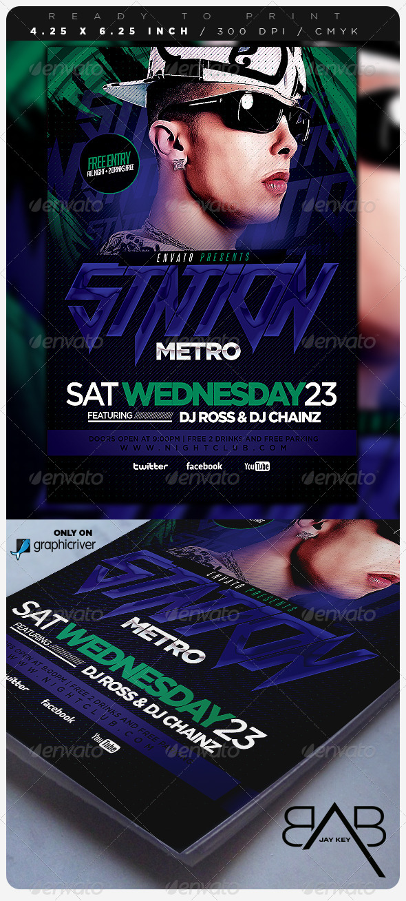 Electro Concert Music Flyer - Events Flyers