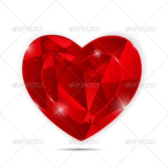 Happy Valentines Day Card with Heart - Web Technology