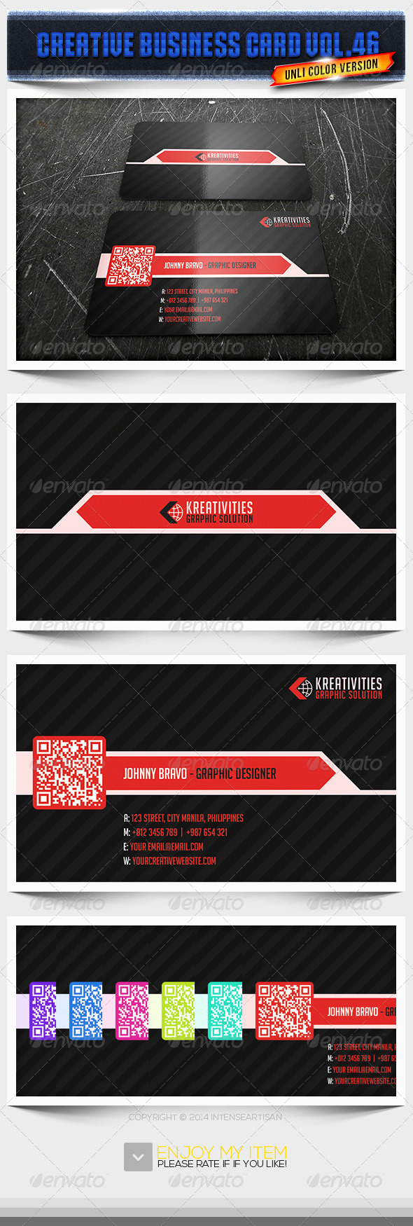 IntenseArtisan Business Card Vol.46 - Creative Business Cards