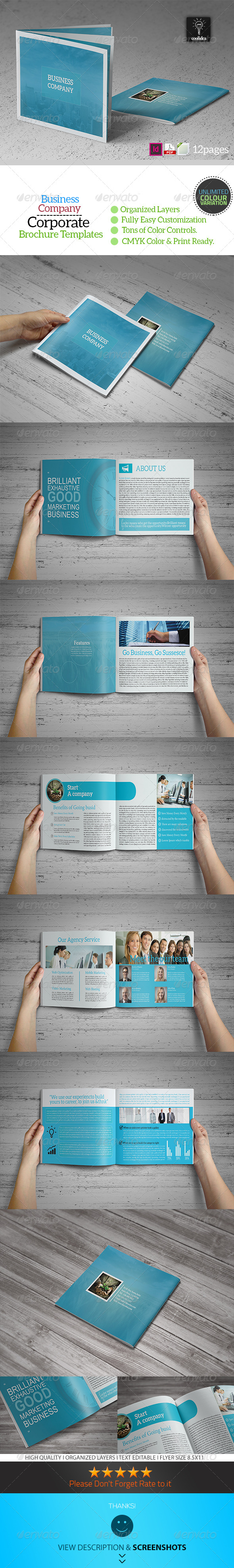 Business Plan - 12 Pages Business Brochure - Corporate Brochures