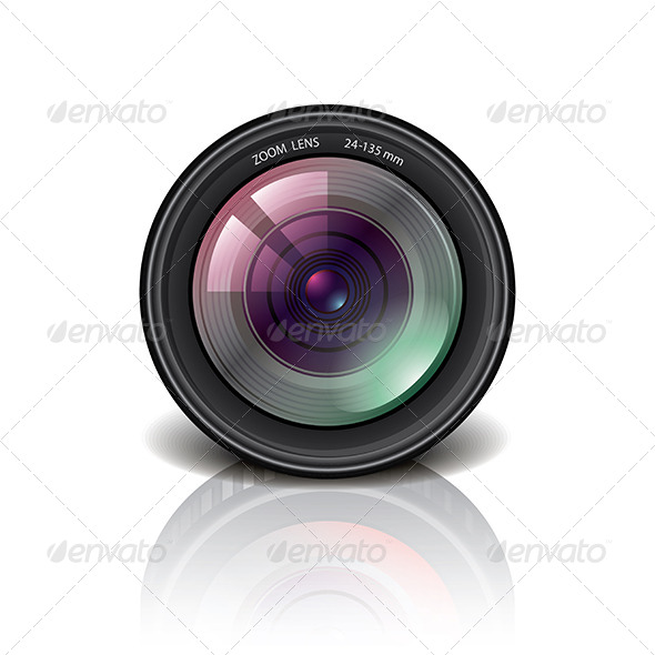 Camera Lens Icon Vector Illustration  - Technology Icons