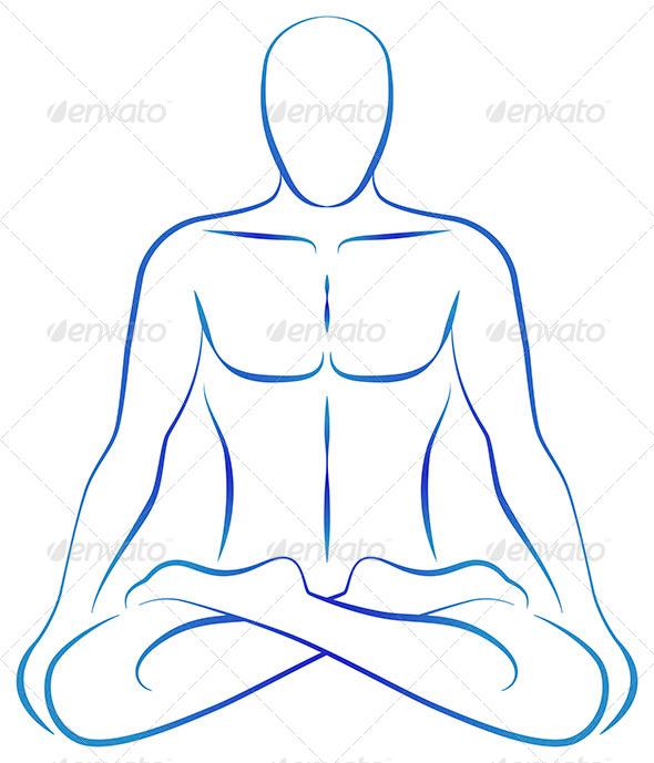 Meditation Yoga Position - Health/Medicine Conceptual