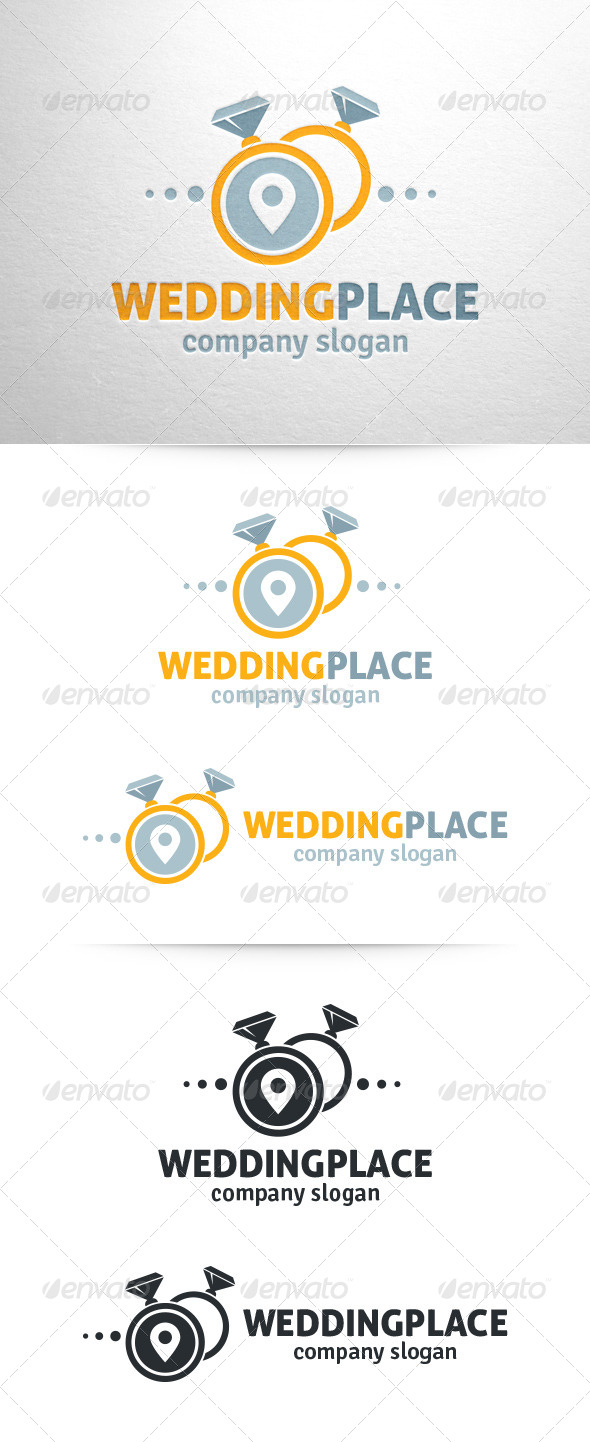 Wedding Place Logo Template - Objects Logo Templates