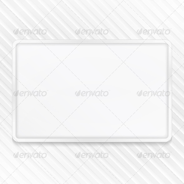 White Frame on Striped Background - Backgrounds Decorative