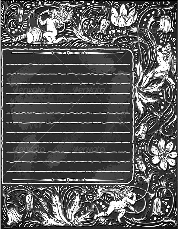 Vintage Blackboard for Valentine Menu - Valentines Seasons/Holidays