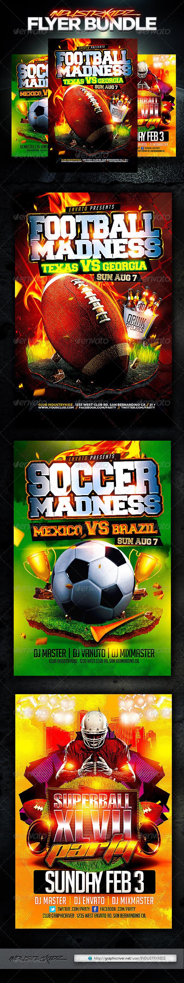 Sport Flyer Template Bundle v2 - Sports Events