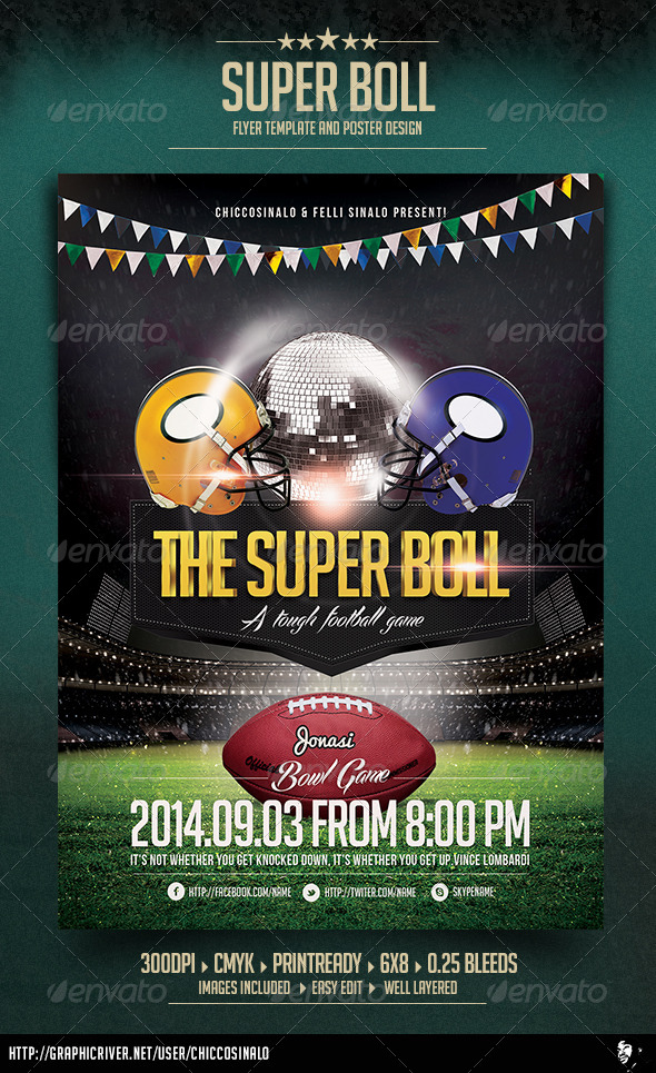 Super Boll Flyer Template - Events Flyers