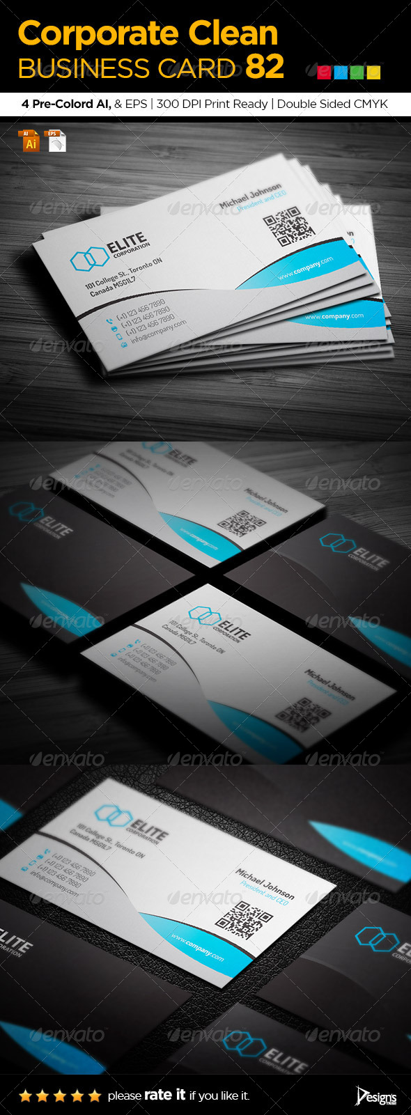 Corporate Clean Business Card 82 - Business Cards Print Templates