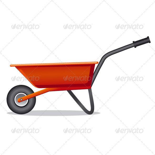 Red Wheelbarrow - Vectors