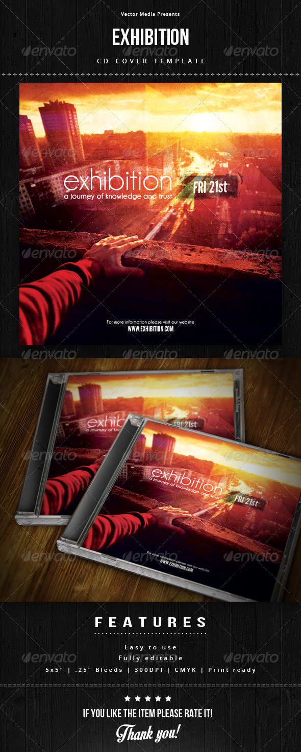 Exhibition - Cd Cover - CD & DVD Artwork Print Templates