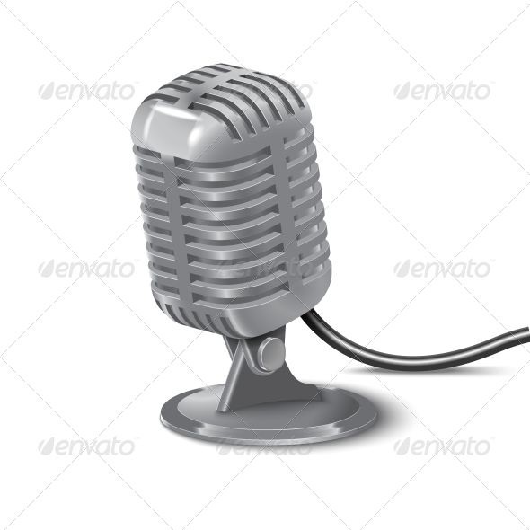 Vintage Microphone - Retro Technology