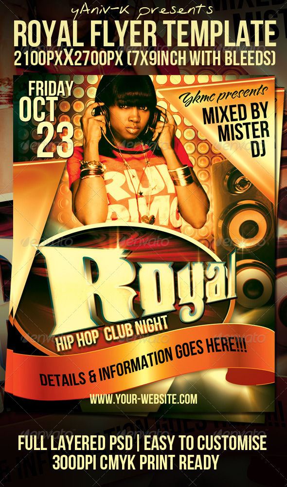 Royal Flyer Template - Clubs & Parties Events