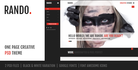 Rando – One Page Creative PSD