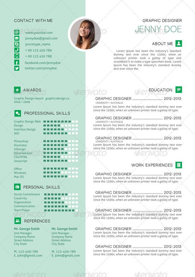 resume cv clear by serzik