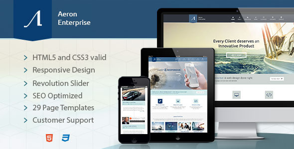 Aeron Enterprise - Responsive Corporate Template - Corporate Site Templates