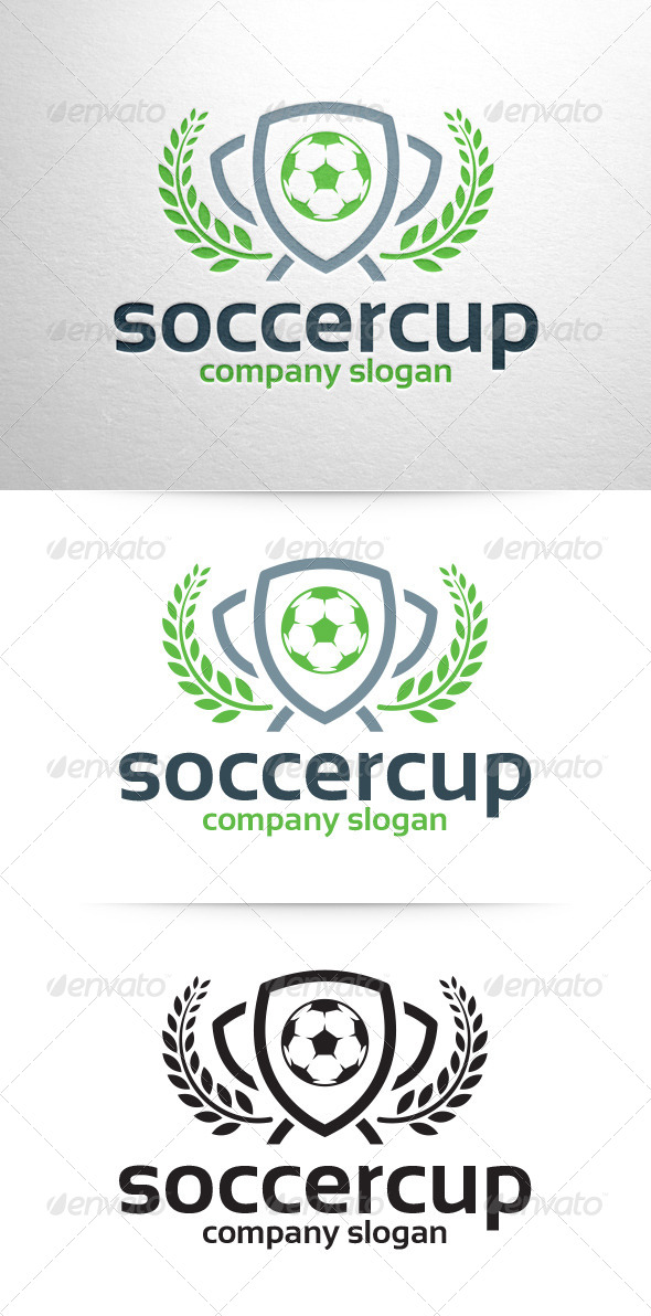 Soccer Cup Logo Template - Symbols Logo Templates