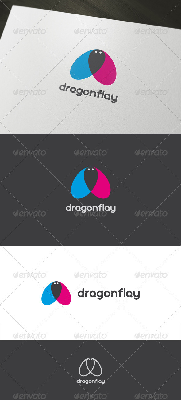 Dragonflay - Animals Logo Templates