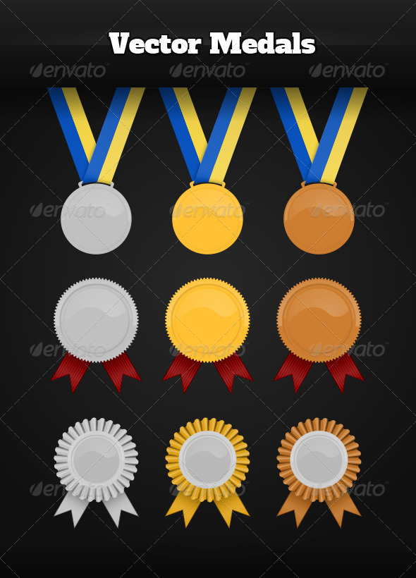 Vector Medals - Man-made Objects Objects