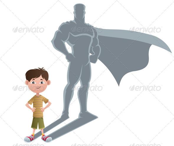 Boy Superhero Concept - People Characters