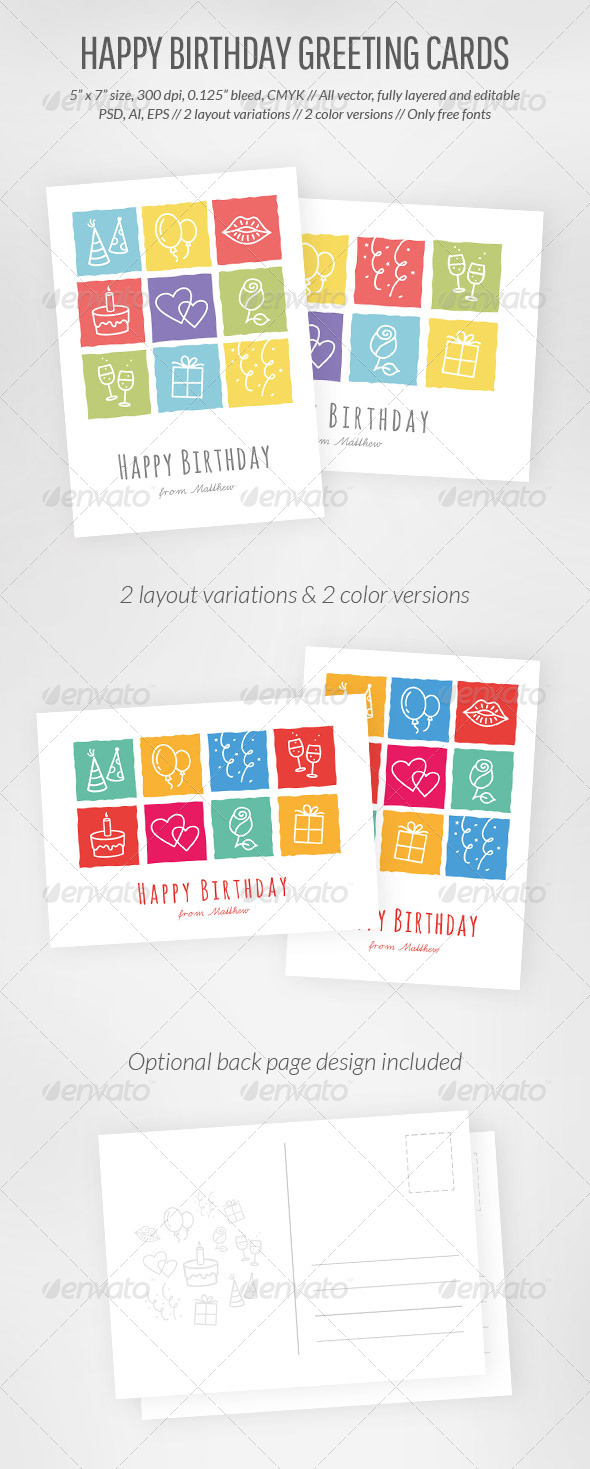 Happy Birthday Greeting Card - Birthday Greeting Cards