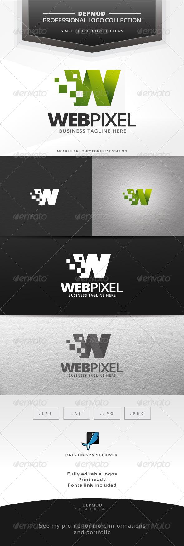 Web Pixel Logo - Letters Logo Templates
