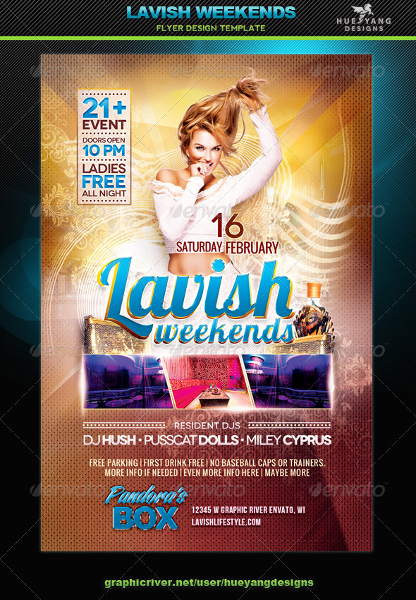 Lavish Weekends Flyer - Clubs & Parties Events