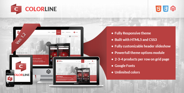 Colorline – Responsive Magento Theme