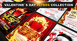 Valentine`s Day Flyers and Posters Collection