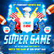 American football Super Game poster - GraphicRiver Item for Sale