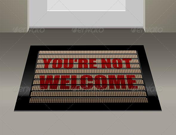 Doormat Not Welcome - Miscellaneous Vectors