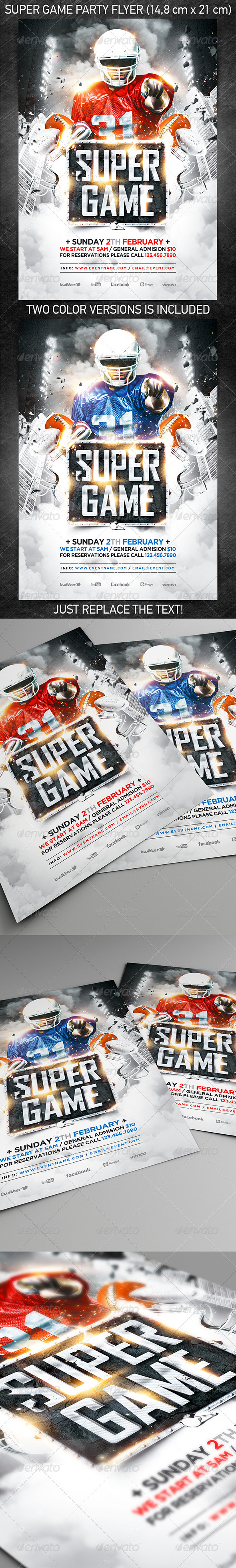 American Football Super Game Flyer vol.2 - Sports Events