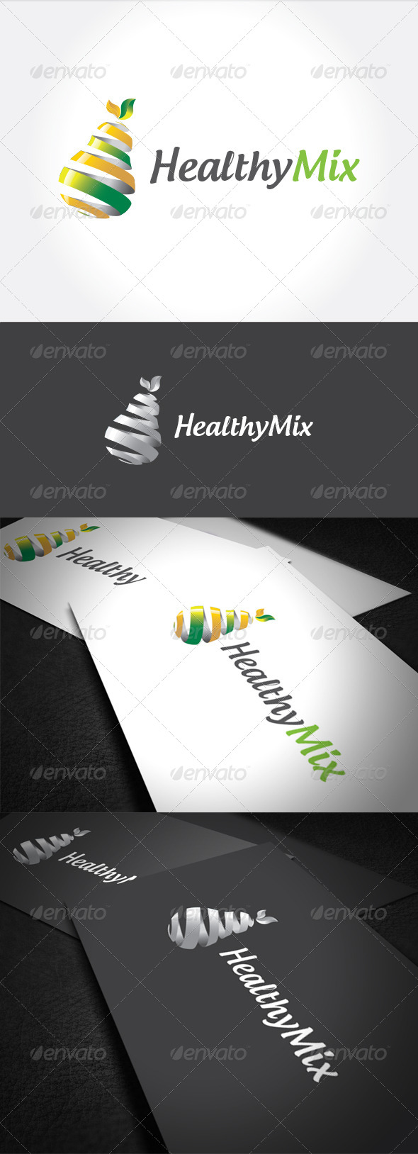 Healty Mix Logo Template - Food Logo Templates