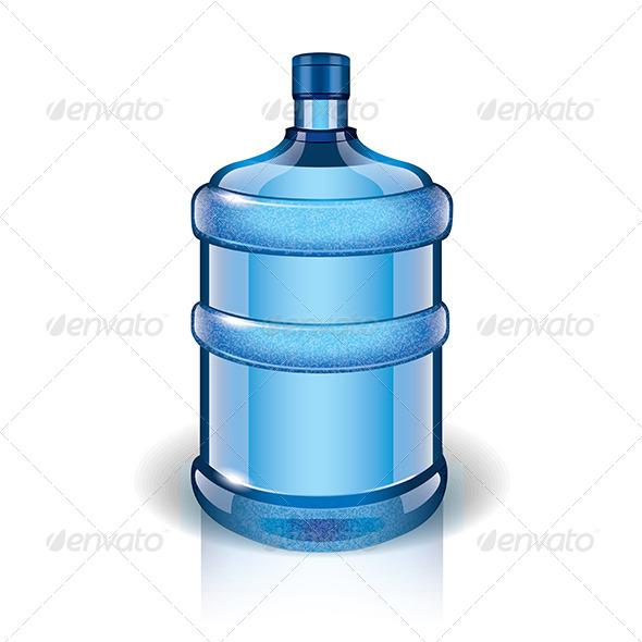 Water Bottle - Food Objects